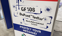 NEW PRODUCT: GF 108          made with DuPont™ Tedlar® Clear PVF
